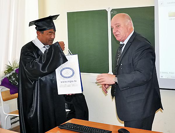 Ученый из Монголии стал Почетным профессором НГПУ