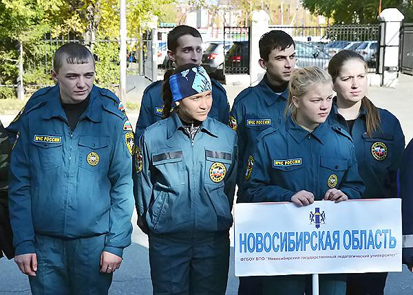 Студенты-спасатели Сибирского федерального округа собрались в НГПУ