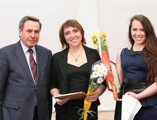 В Новосибирске поздравили школьников, участвовавших во всероссийских олимпиадах