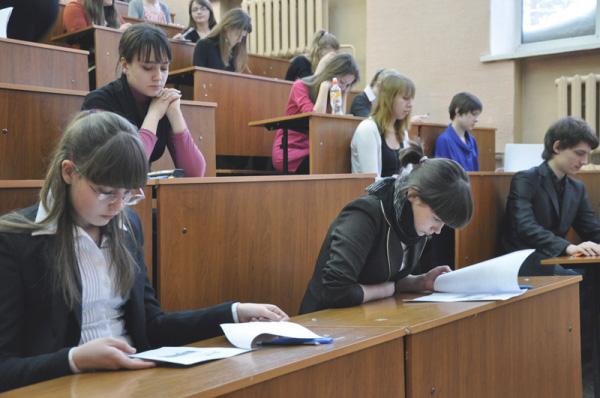 В НГПУ прошла олимпиада школьников по обществознанию