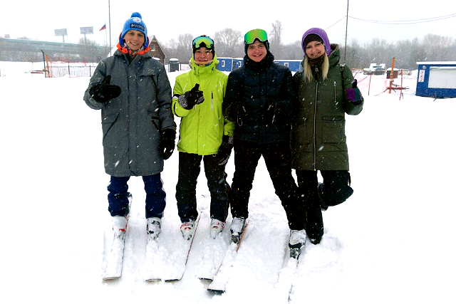 Дети и подростки с инвалидностью совершили публичный спуск на горных лыжах