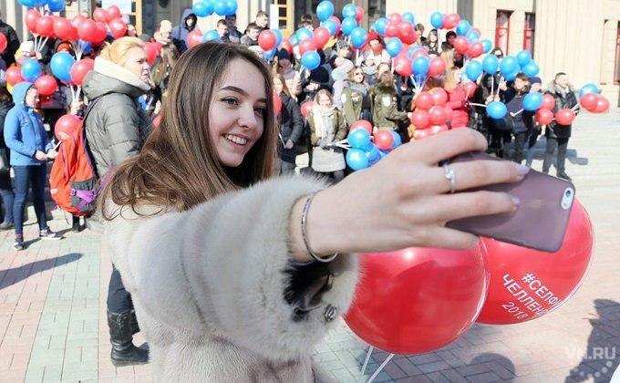 Флешмоб в поддержку #селфичеллендж2018 стартовал в Новосибирске