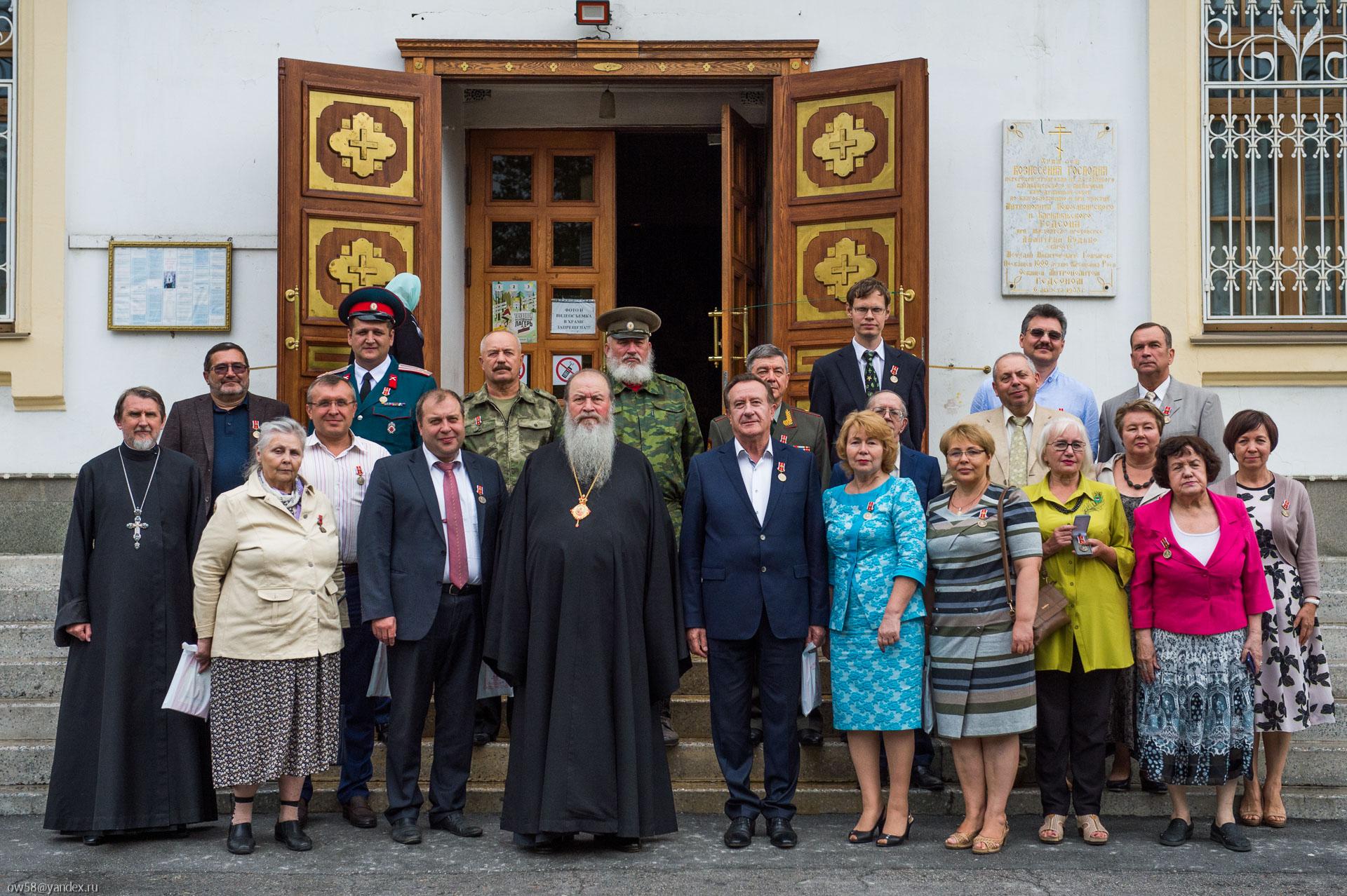 В большом зале Новосибирского Епархиального управления состоялось награждение по случаю 1030-летия Крещения Руси