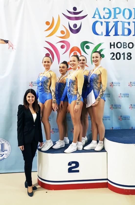 Команда НГПУ – серебряные призеры «Аэробики Сибири»