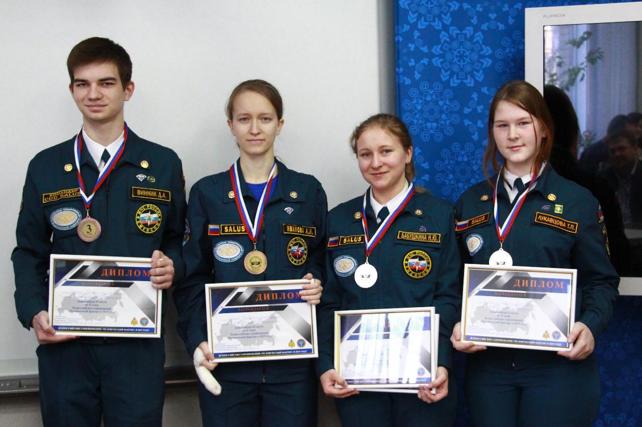 Курсанты Salus — призеры соревнований МЧС России «Человеческий фактор»