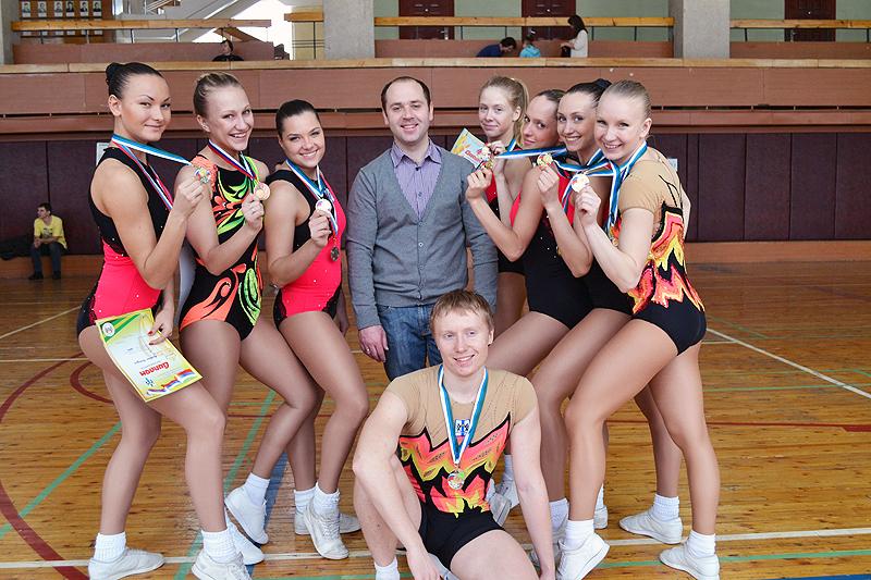 Спортсмены НГПУ – серебряные призеры НСО по аэробике