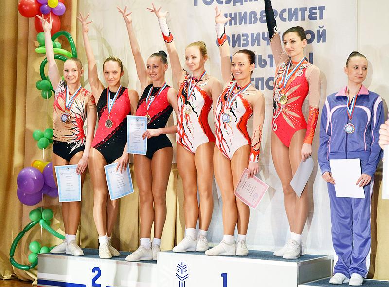 Соревнования по аэробике в Омске