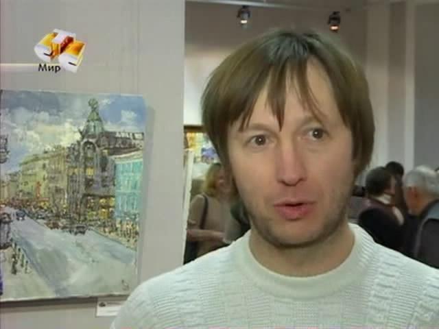Выставка картин  Бабичева A., доцента кафедры живописи ИИ НГПУ